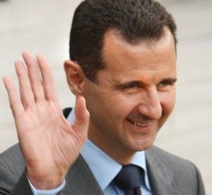 Assad har ifrågasatts emedan han anses ha tillgripit kemiska medel.