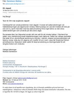 Mattias Danielssons uttalande styrker negativa konsekvenser av vägsaltning.