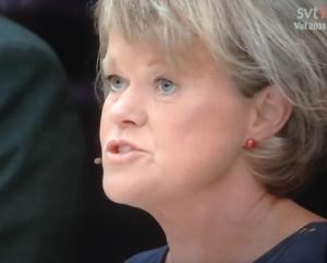 En av Vänsterns hot mot samhället, närmare bestämt Ulla Andersson.
