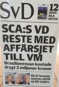 Också Svenska Dagbladet synes lägga näsan i blöt.