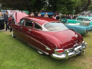 """En av de riktigt fina bilarna till bedömning och tävling var denna Hudson, också benämnd """"hudsonlimpa""""."""